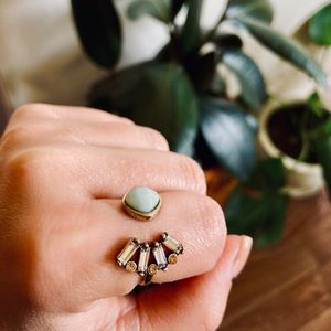 Jewelry - 🌿 Stone Crystal Statement Ring / Adjustable ▪️